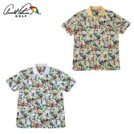 アーノルドパーマー arnold palmer ゴルフウェア 半袖シャツ メンズ アロハ柄スキッパー半袖シャツ AP220101I02