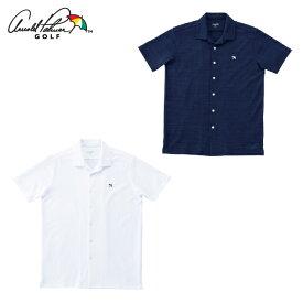 アーノルドパーマー arnold palmer ゴルフウェア 半袖シャツ メンズ オープンカラー半袖シャツ AP220101I03