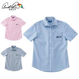 アーノルドパーマー arnold palmer ゴルフウェア 半袖シャツ メンズ ストライプサッカー半袖シャツ AP220101I06
