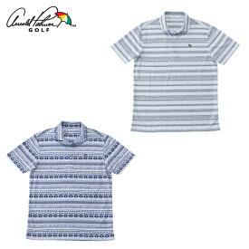 アーノルドパーマー arnold palmer ゴルフウェア ポロシャツ 半袖 メンズ オルテガ柄半袖シャツ AP220101I07