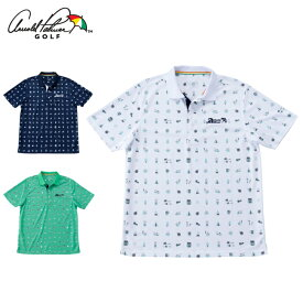 アーノルドパーマー arnold palmer ゴルフウェア ポロシャツ 半袖 メンズ 飛び柄PT半袖ポロ AP220101I08