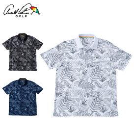 アーノルドパーマー arnold palmer ゴルフウェア ポロシャツ 半袖 メンズ ボタニカル総柄PT半袖ポロ AP220101I11