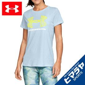 アンダーアーマー Tシャツ 半袖 レディース UAテックショートスリーブクルーグラフィック トレーニング WOMEN 1328900 451 UNDER ARMOUR