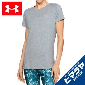 アンダーアーマー Tシャツ 半袖 レディース UAテックショートスリーブクルーディフェンステックジャカード 1328898 011 UNDER ARMOUR