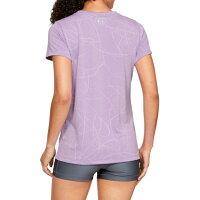 アンダーアーマーTシャツ半袖レディースUAテックショートスリーブクルーディフェンステックジャカード1328898543UNDERARMOUR