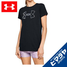 アンダーアーマー Tシャツ 半袖 レディース UAグラフィックビッグロゴクラシッククルー 1330348-001 UNDER ARMOUR