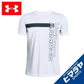 アンダーアーマー Tシャツ 半袖 ジュニア UA BTH UVワードマークTシャツ BOYS 1342071 100 UNDER ARMOUR