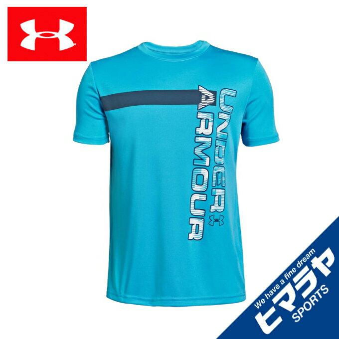 アンダーアーマー Tシャツ 半袖 ジュニア UA BTH UVワードマークTシャツ BOYS 1342071 452 UNDER ARMOUR
