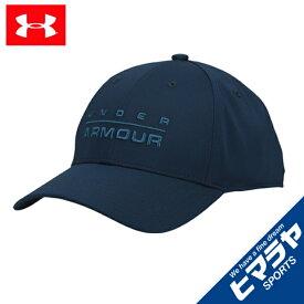 アンダーアーマー キャップ 帽子 メンズ UAワードマークSTRキャップ トレーニング MEN 1342243-408 UNDER ARMOUR