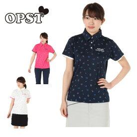 オプスト OPST ゴルフウェア ポロシャツ 半袖 レディース スイーツ飛柄半袖シャツ OP220301I06