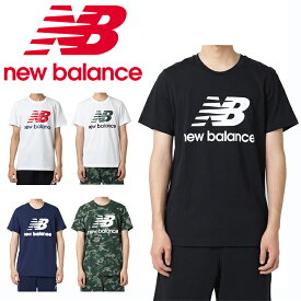 77e8be3c767a3 ニューバランス Tシャツ 半袖 メンズ エッセンシャルスタックドロゴTシャツ AMT91546 new balance