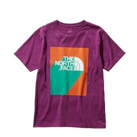 ノースフェイス Tシャツ 半袖 メンズ NT31942 PP フロックスパープル ロゴT S/S 3D Logo Tee THE NORTH FACE