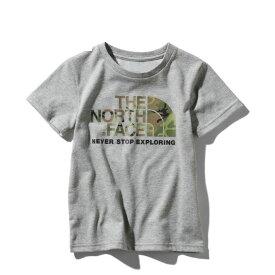 ノースフェイス Tシャツ 半袖 ジュニア NTJ31992 Z グレー ショートスリーブカモロゴT S/S Camo Logo Tee THE NORTH FACE