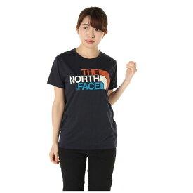 ノースフェイス Tシャツ 半袖 レディース NTW31931 UN アーバンネイビー ショートスリーブカラフルロゴT S/S Colorful Logo Tee THE NORTH FACE