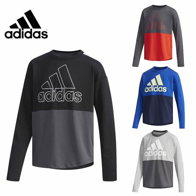 アディダス Tシャツ 長袖 ジュニア 長袖Tシャツ FTJ63 adidas
