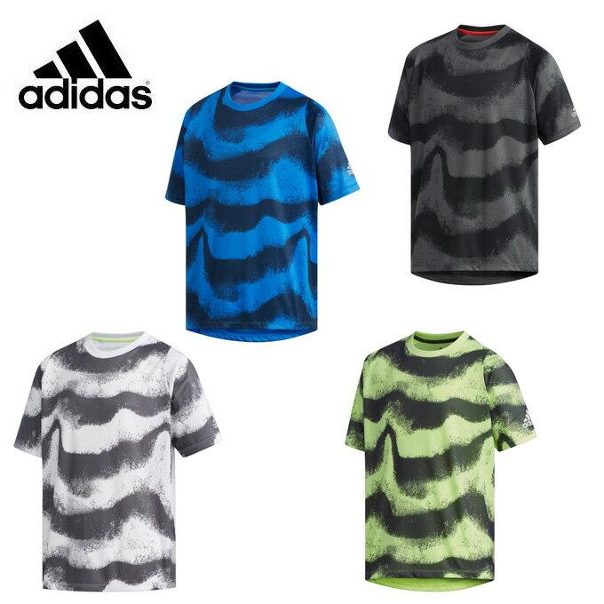 アディダス Tシャツ 半袖 ジュニア TRN CLIMACOOL AOP Tシャツ クライマクール FTJ78 adidas