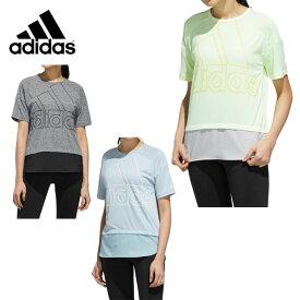 アディダス Tシャツ 半袖 レディース ID 半袖ファブリックMIX オーバーサイズビッグロゴTシャツ FTK46 adidas