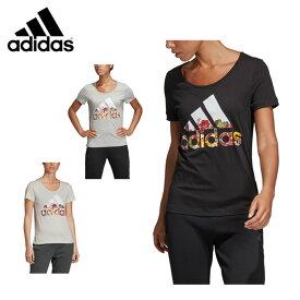 アディダス Tシャツ 半袖 レディース フラワー FSR83 adidas