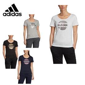 アディダス Tシャツ 半袖 レディース リニア サークル グラフィック FSR70 adidas