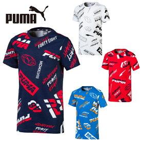 プーマ Tシャツ 半袖 ジュニア キッズ ALPHA アルファ SS AOP Tシャツ 843946 PUMA