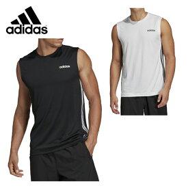 【エントリーで5倍 8/10〜8/11まで】 アディダス スポーツウェア ノースリーブ メンズ スリーブレス3ストライプスTシャツ FSF39 adidas