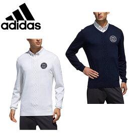 アディダス ゴルフウェア セーター メンズ ADICROSS アディクロス ケーブル Vネックセーター ゴルフ FVE78 adidas