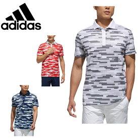 アディダス ゴルフウェア ポロシャツ 半袖 メンズ カモプリント S/S ワイドカラー FVE54 adidas