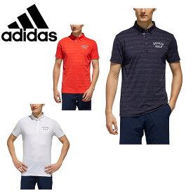 アディダス ゴルフウェア ポロシャツ 半袖 メンズ ADICROSS アディクロス ドットストライプ S/S B.D. FVE55 adidas