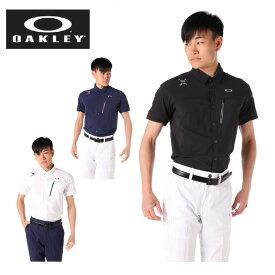 【エントリーで5倍 8/10〜8/11まで】 オークリー ゴルフウェア 半袖シャツ メンズ ブリーサブルウーブン半袖シャツ 401922JP OAKLEY