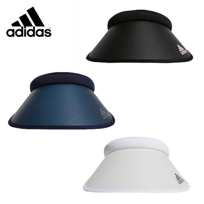 アディダス ゴルフ サンバイザー レディース UVクリップバイザー XA165 adidas