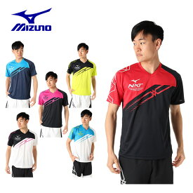 ミズノ テニスウェア バドミントンウェア Tシャツ 半袖 メンズ プラクティス 62JA9Z18 MIZUNO