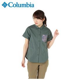 コロンビア 半袖シャツ レディース マウンテンブルーB PL7061 337 Columbia