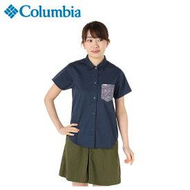 コロンビア 半袖シャツ レディース マウンテンブルーB PL7061 492 Columbia