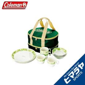 コールマン 食器セット 皿 + マグカップ 4人用 メラミンテーブルウェアセット 170-9135 Coleman
