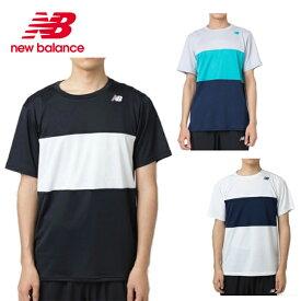 ニューバランス テニスウェア Tシャツ 半袖 メンズ レディース ショートスリーブカラーブロックゲームTシャツ JMTT9135 new balance