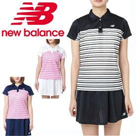 ニューバランス テニスウェア Tシャツ 半袖 レディース ウィメンズボーダーグラフィックショートスリーブポロシャツ JWTT9143 new balance