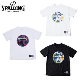スポルディング SPALDING バスケットボールウェア 半袖シャツ メンズ レディース Tシャツ マーブル SMT190200