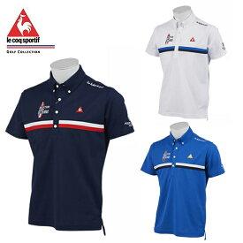 ルコック le coq sportif ゴルフウェア ポロシャツ 半袖 メンズ ラインスポーティポロシャツ QGMNJA28