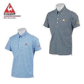 ルコック le coq sportif ゴルフウェア ポロシャツ 半袖 メンズ サーフレコードパターンポロシャツ QGMNJA29