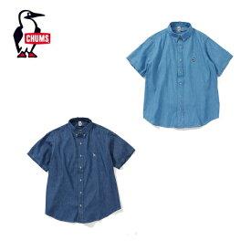 チャムス CHUMS 半袖シャツ メンズ Big Denim Shirt ビッグデニムシャツ CH02-1101 アウトドアシャツ