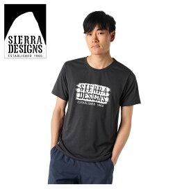 シェラデザインズ SIERRA DESIGNS Tシャツ 半袖 メンズ アンティークロゴ 防蚊 20933288 CHACOAL