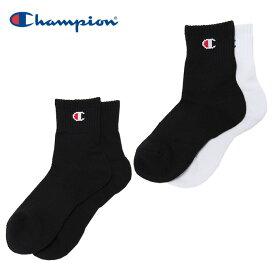 チャンピオン Champion バスケットボール ソックス レディース 2足組 ショートソックス BASKETBALL C3-PB723S