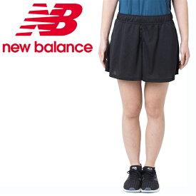 ニューバランス ショートパンツ レディース デザインニットショーツ インナーなし JWSR9020 BK new balance