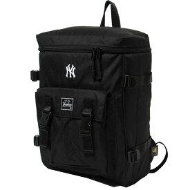 メジャーリーグベースボール リュックサック メンズ レディース 600Dスクエアリュック ブラック YK-MBBK60S-BK MAJOR LEAGUE BASEBALL