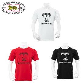 ミツワタイガー MITSUWA TIGER 野球 アンダーシャツ 半袖 メンズ ロゴプリントTシャツ KSMTKS-055