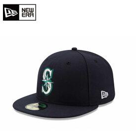 ニューエラ NEW ERA キャップ 帽子 メンズ レディース 59FIFTY フィフティー MLB メジャーリーグ ベースボール オンフィールド シアトル・マリナーズ 11449340