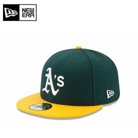 ニューエラ NEW ERA キャップ 帽子 メンズ レディース 59FIFTY フィフティー MLB メジャーリーグ ベースボール オークランド・アスレチックス ホーム 11449354