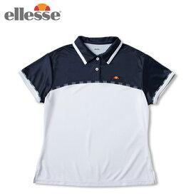 エレッセ ellesse テニスウェア ゲームシャツ レディース ショートスリーブチームポロ S/S Team Polo ETS0910L-WN