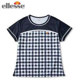 エレッセ ellesse テニスウェア ゲームシャツ レディース ショートスリーブチームクルー S/S Team Crew ETS0911L-NC