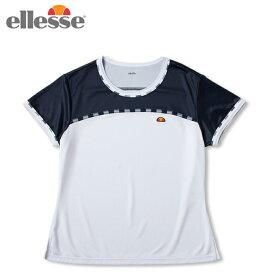 エレッセ ellesse テニスウェア ゲームシャツ レディース ショートスリーブチームクルー S/S Team Crew ETS0911L-WN